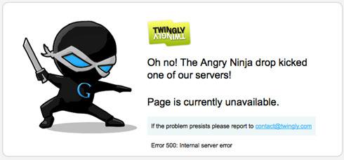 Website Error Message